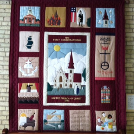 Quilt depicting our history and story